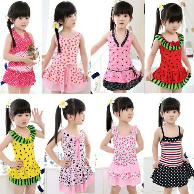 正品儿童泳衣韩版裙式女童分体儿童泳装中大童连体游泳衣