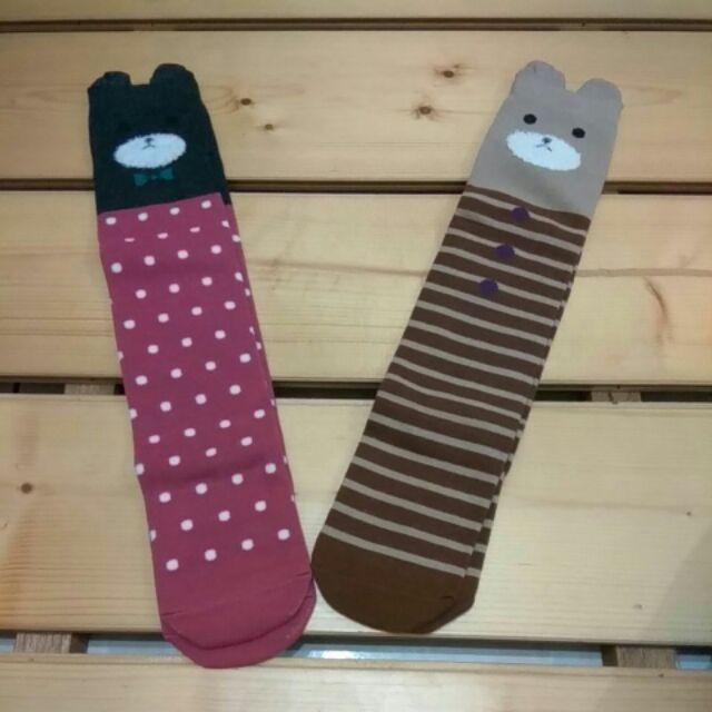 襪6 歲 小小童幼童襪韓國兒童女童打底襪子小熊中筒襪兒童高筒襪套堆堆襪過膝襪