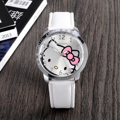 凱蒂貓皮革錶帶腕錶 女裝的美麗可愛的石英表