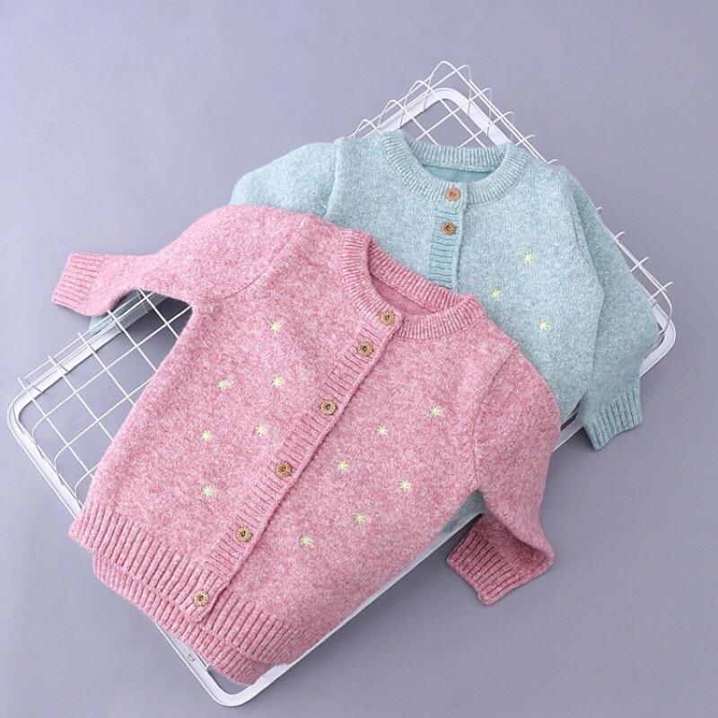 甜美星星針織毛線外套