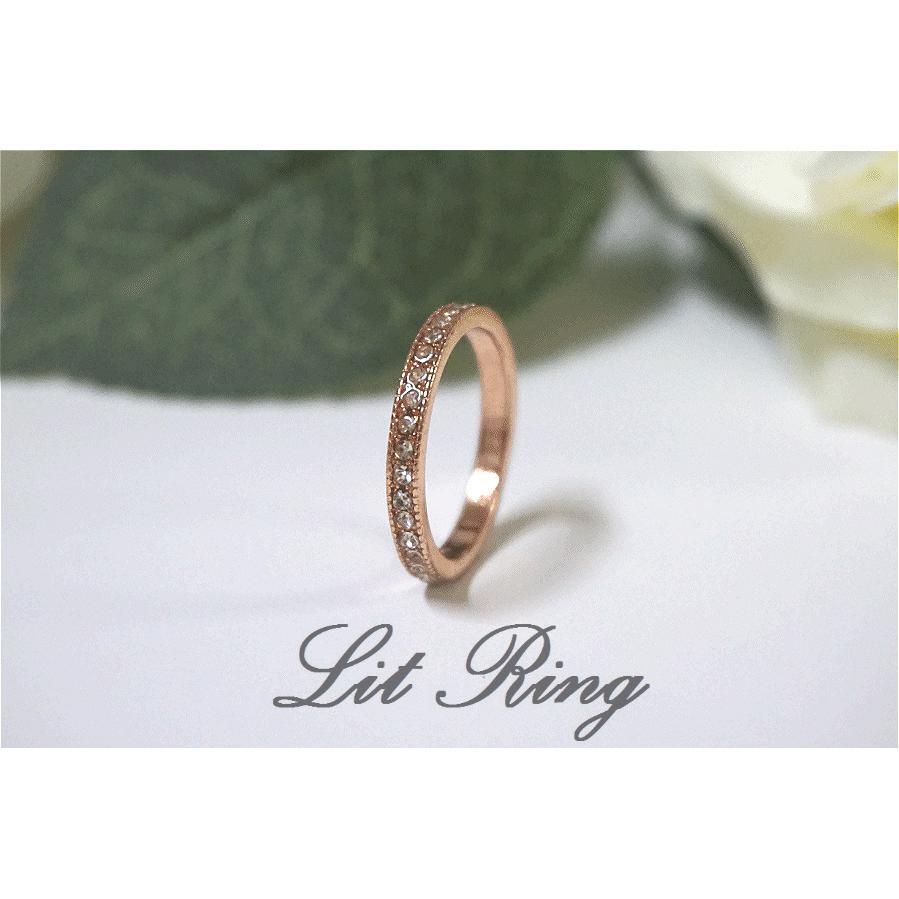 排鑽鑲水鑽鋯石戒指~ 玫瑰金金色閃亮優雅 小水鑽細戒指飾品~Lit Ring ~