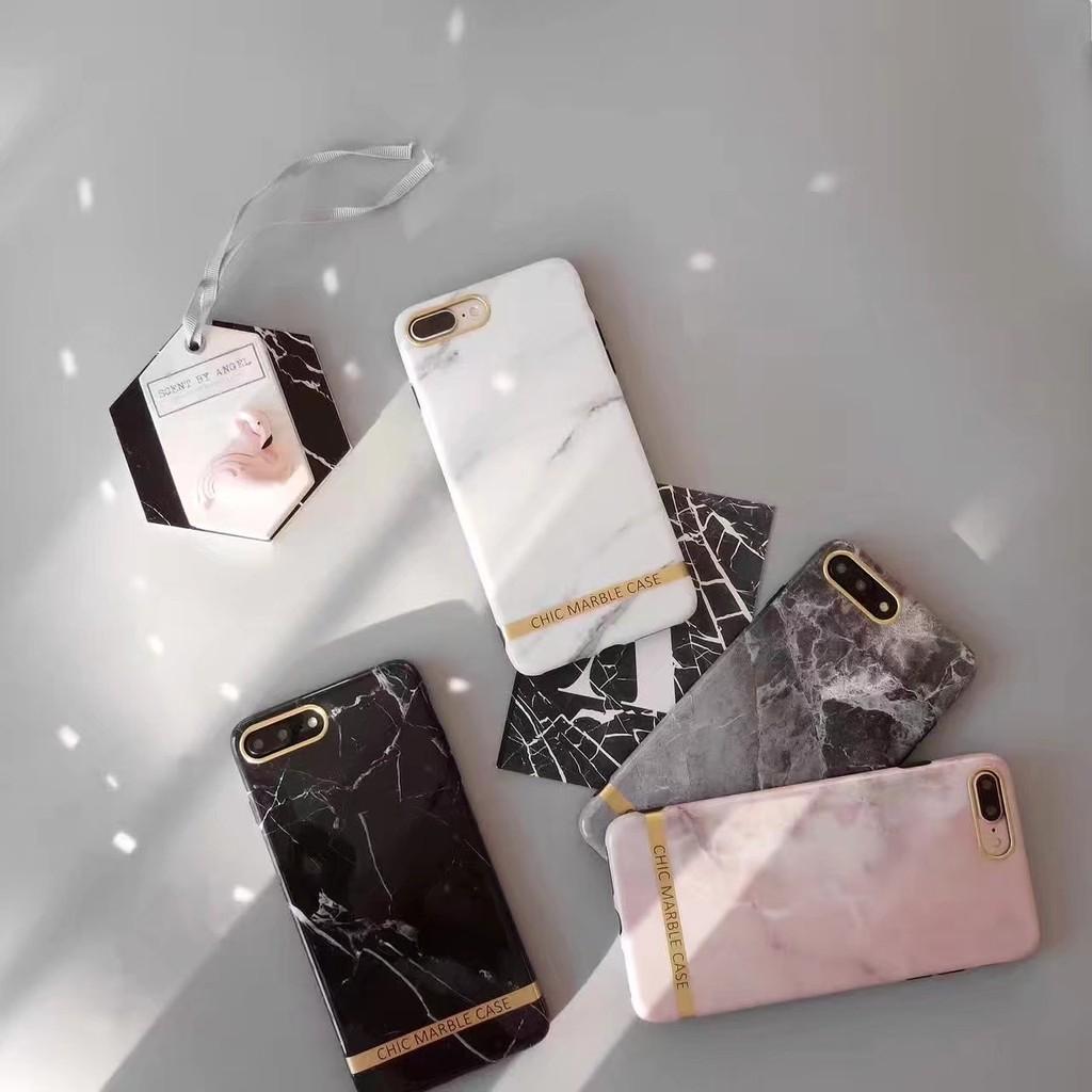 iPhone 保護殼iPhone6 6plus 7plus 手機殼別致大理石金邊IMD 光