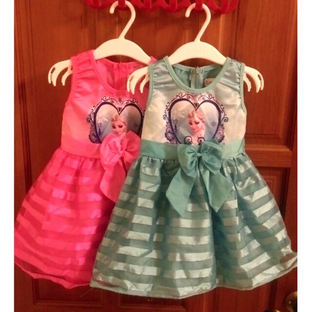 迪士尼艾莎公主小禮服小童洋裝寶寶裙子Elsa Disney