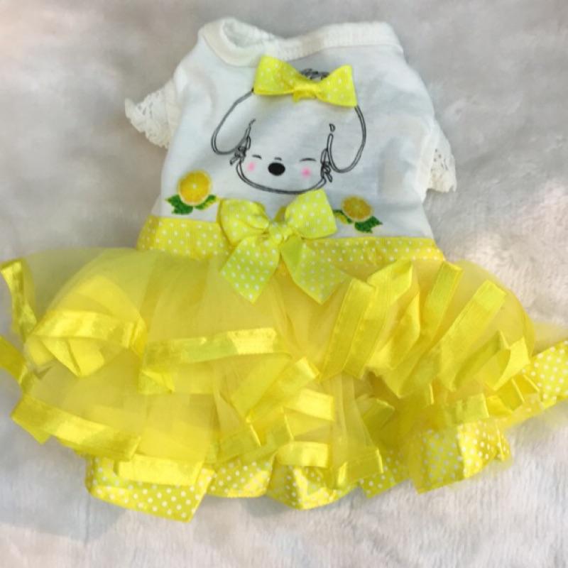 黃色蓬蓬裙