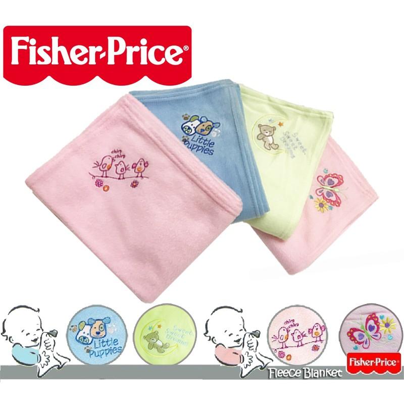 Colorful DAY 費雪Fisher Price 絨柔軟觸感舒適棉刺繡寶寶包巾抱被抱