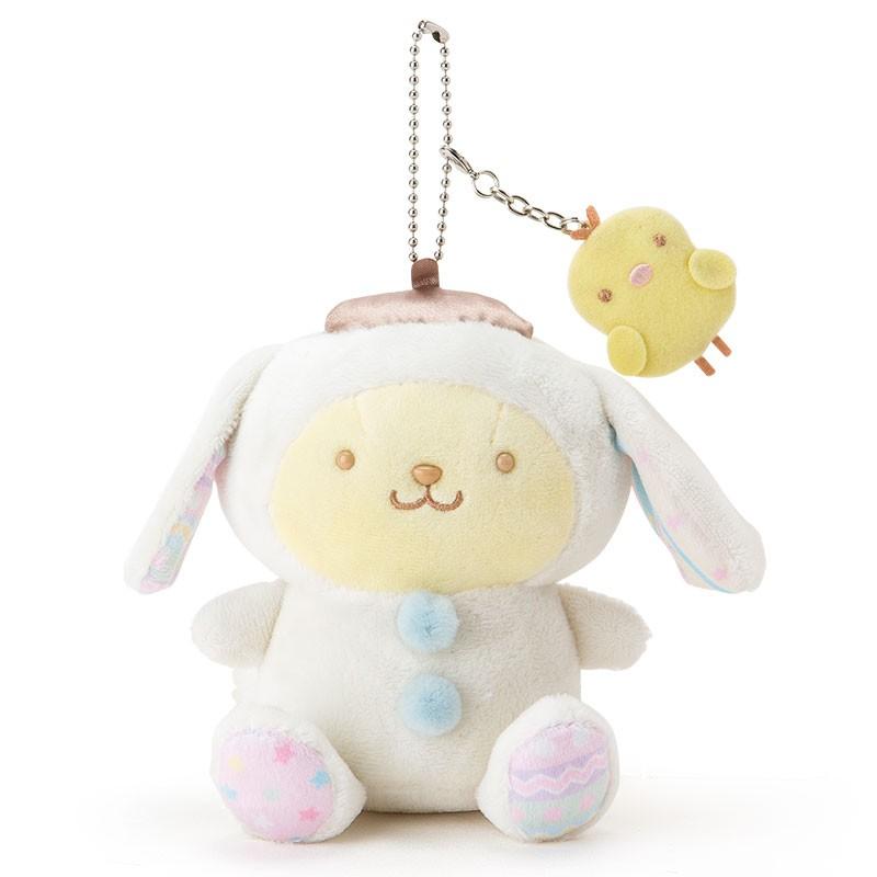 布丁狗 絨毛娃娃吊飾~白坐姿附珠鍊~復活節系列