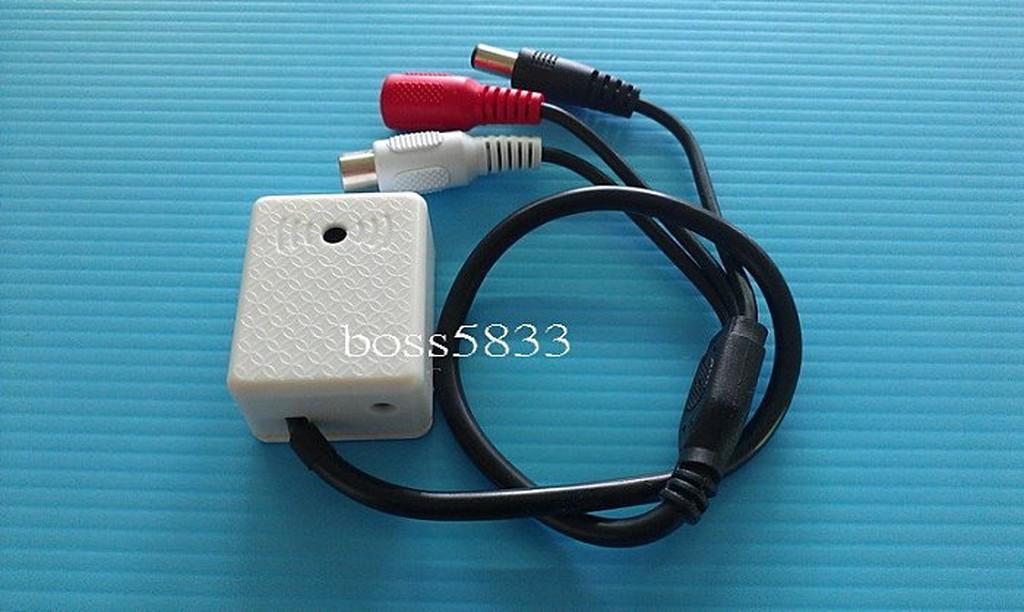 高靈敏低噪音監聽麥克風集音器監控收音方型萬向接收收音器,靈敏度可自由調節