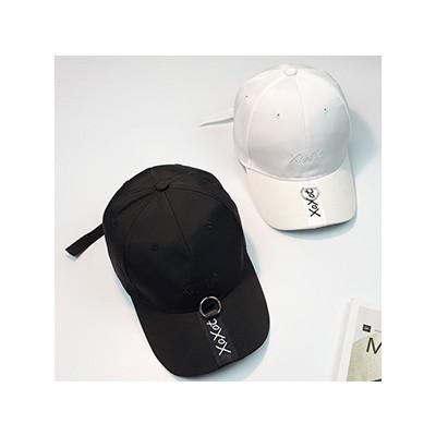 XOXO 金屬環長帶帽子棒球帽鴨舌帽H024