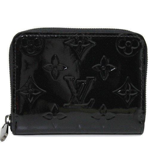 Louis Vuitton LV M90077 花紋全漆皮壓紋信用卡零錢包LV 零錢