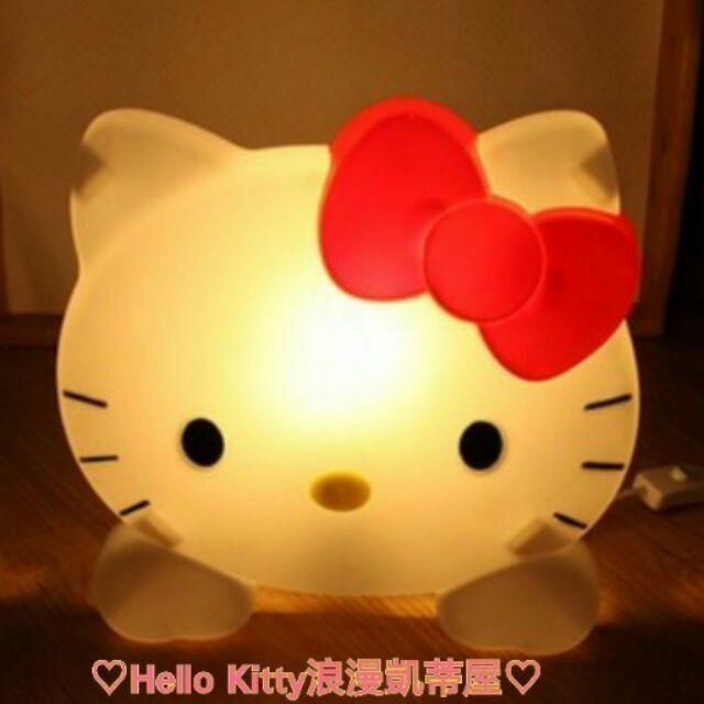 ❤Hello Kitty 浪漫凱蒂屋❤Hello Kitty 超可愛貓頭檯燈小夜燈卡通床頭