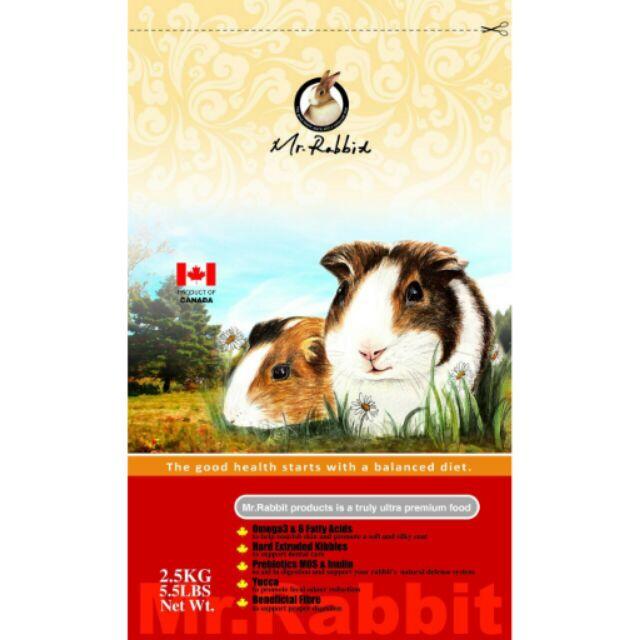 ( )Mr Rabbit 瑞比兔先生~全方位機能食譜天竺鼠~2 5 公斤