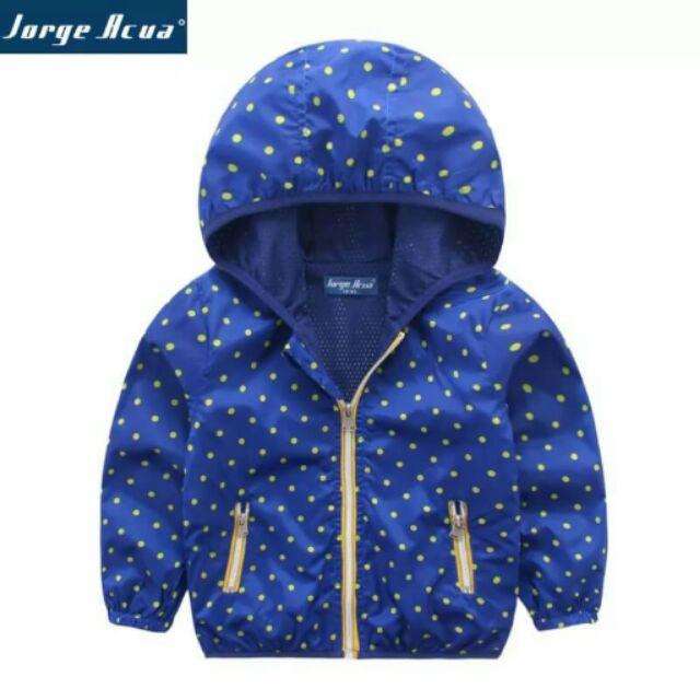 男童秋款圓點衝鋒衣外套兒童寶寶 百搭風衣外套