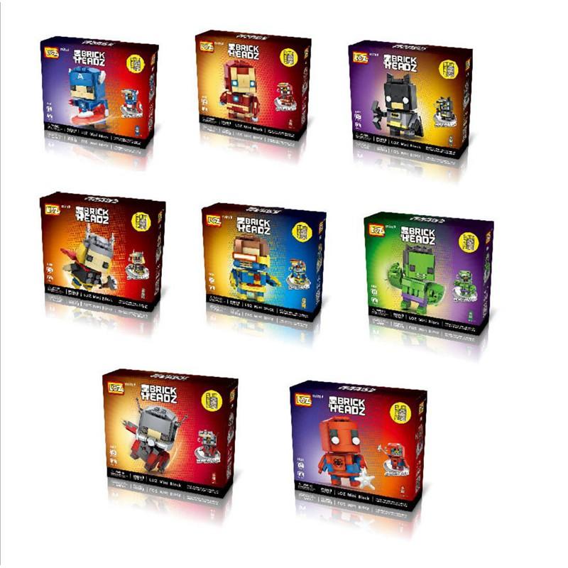 俐智loz 小顆粒鉆石迷妳兒童積木 組裝益智Diy 玩具機甲系列(美國隊長綠巨人鋼鐵俠蜘蛛