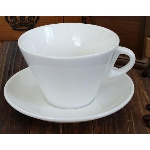 骨瓷倒錐杯拿鐵咖啡杯WLAC 世界咖啡拉花藝術大賽280cc