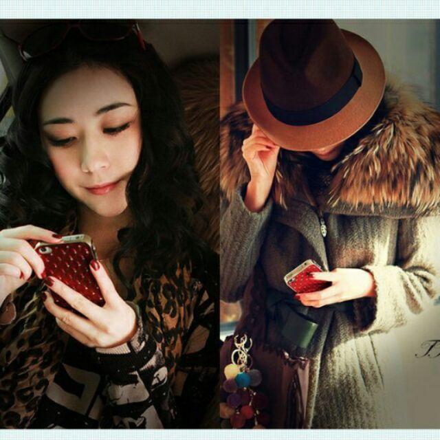 ~AP ~IPhone 5 5S 捷克純 水鑽磨砂雕花背蓋保護殼手機殼保護蓋貼鑽殼8 色