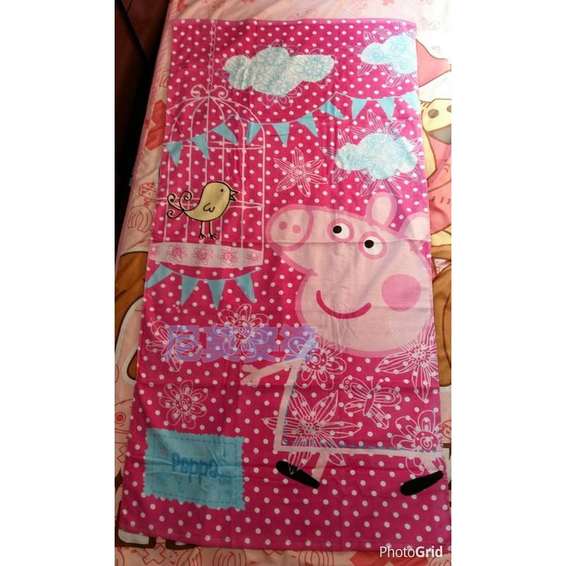 佩佩豬peppa pig 粉紅豬小妹兒童大浴巾毛巾3 款
