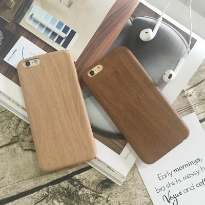 I7 I7P 、I6 I6P 、I5 5S 仿原木紋路手機殼、實木紋理、 TPU 軟殼,簡