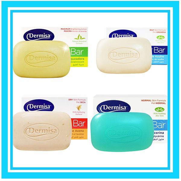 美國DERMISA 淡斑嫩白皂粉刺淨膚皂去角質燕麥皂保溼甘油蘆薈皂85g