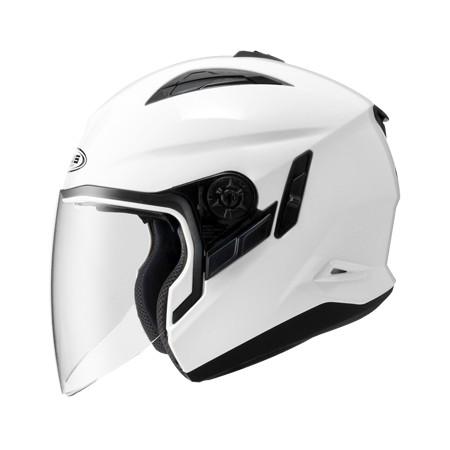 ZEUS ZS 613B 白~ 內藏式遮陽鏡片機構,操作方便、可保持良好視線~