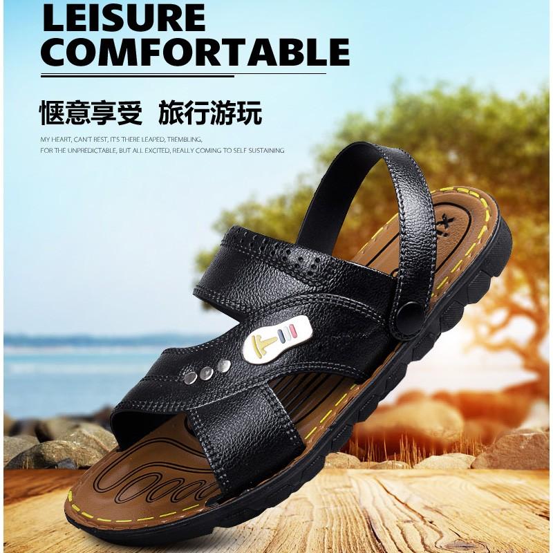 壹字拖室外防滑平底涼拖鞋男士兩用拖鞋 男涼鞋潮流沙灘鞋