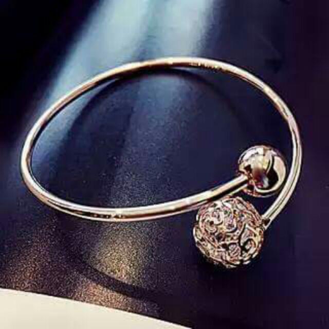 玲瓏水晶女人心簡約飾品首飾手鍊