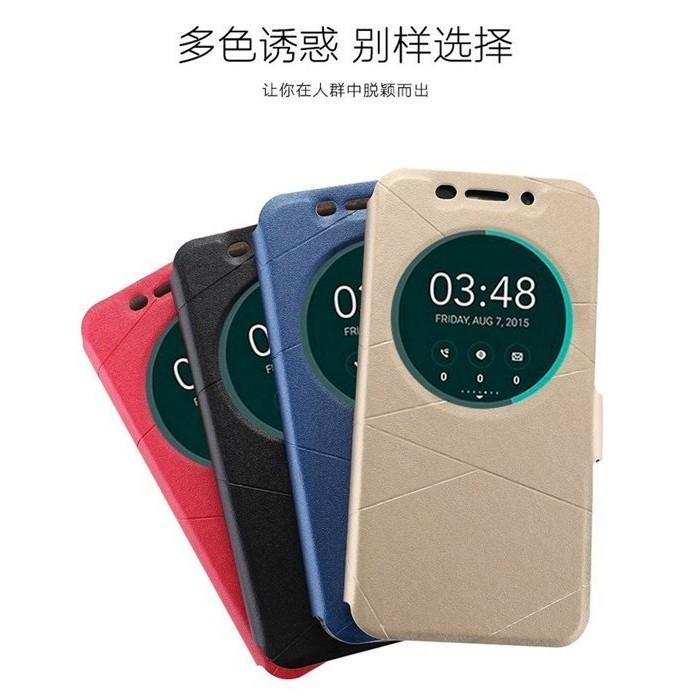 5 2 吋華碩ZenFone 3 磁扣ZE520KL 智慧智能視窗手機皮套支援休眠喚醒 站