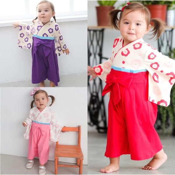 Augelute Baby 女童日式和服 連身衣37301