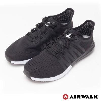 AIRWALK 率真輕量透氣網布慢跑鞋黑、白男女皆有尺寸