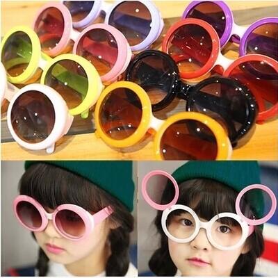 2016 潮款男女童 翻開鏡片雙層圓眼鏡潮太陽眼鏡墨鏡兒童眼鏡