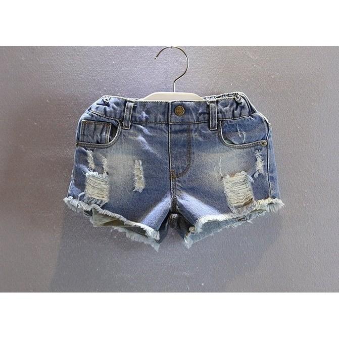 夏裝 兒童寶寶水洗磨破洋氣百搭短褲熱褲