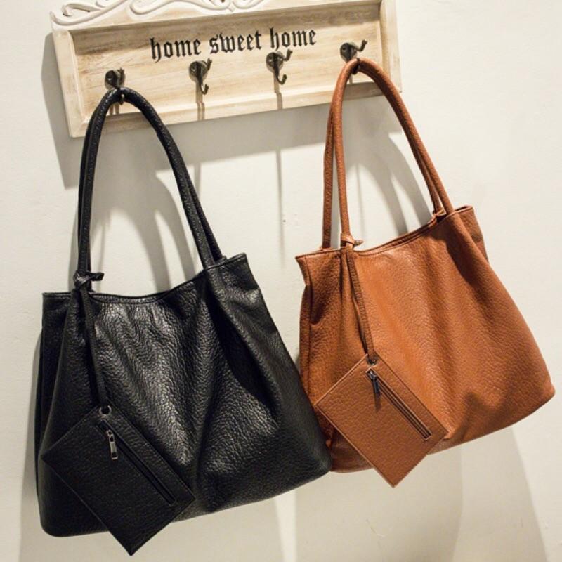 大包2016  女包手提包b2022 大容量包休閒百搭單肩包還附贈小包