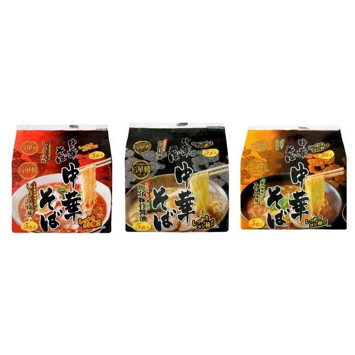 山本製粉5 入中華麵味噌450g 魚介豚骨醬油440g 醬油455g 日式泡麵系列