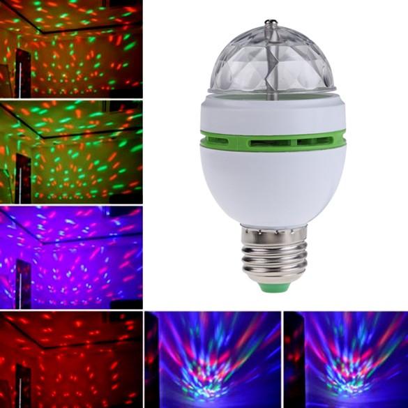 E273W 七彩旋轉自動RGB LED 球泡燈舞檯燈迪斯可燈