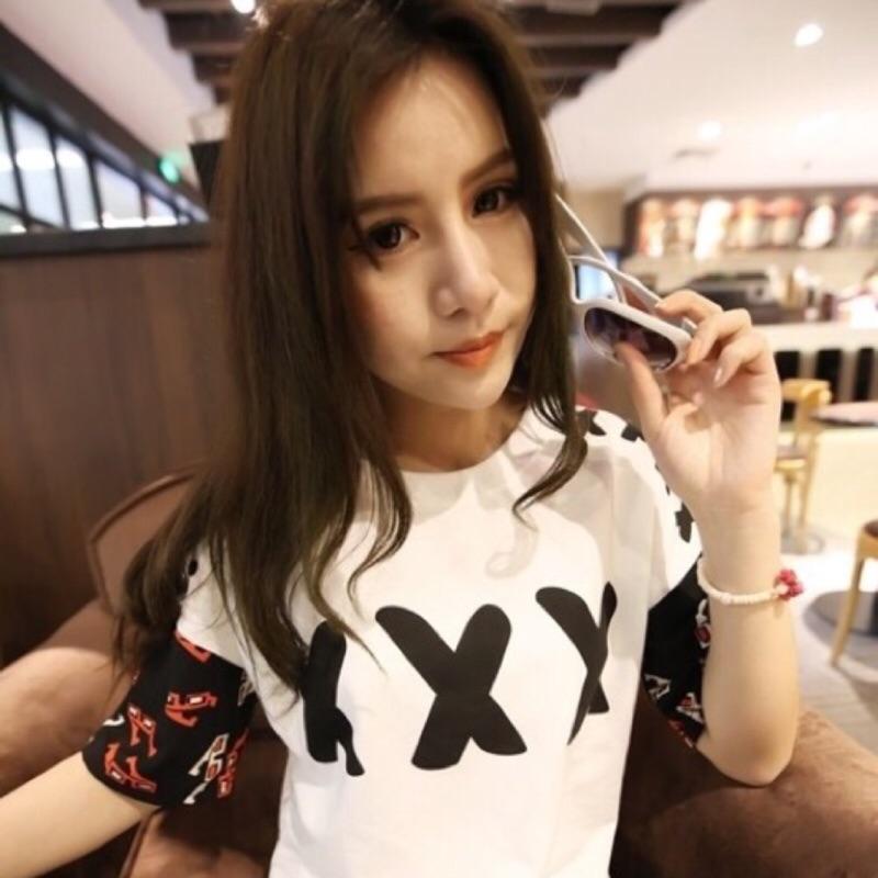 ❣原宿風 ❣✨yiyi 小物✨閨蜜XXX 叉叉叉寬松印花短袖T 恤白色均碼白色短T 薄T