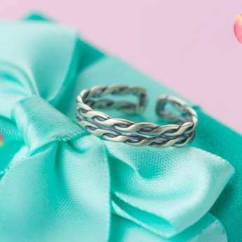 純銀飾品s925 純銀戒指女復古民族風泰銀雙層麻花戒指編織開口食指戒女