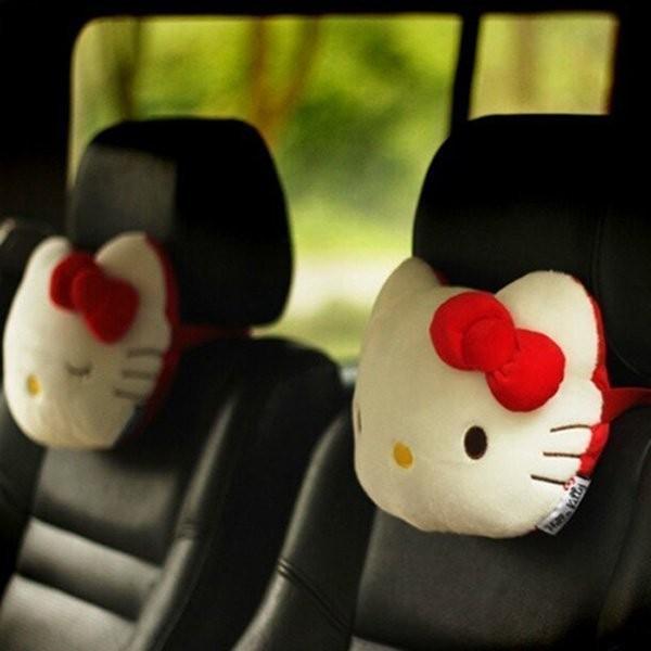 ~靓靓小館~ Hello Kitty 熱情紅淺粉汽車枕頭護頸枕超可愛共2 款