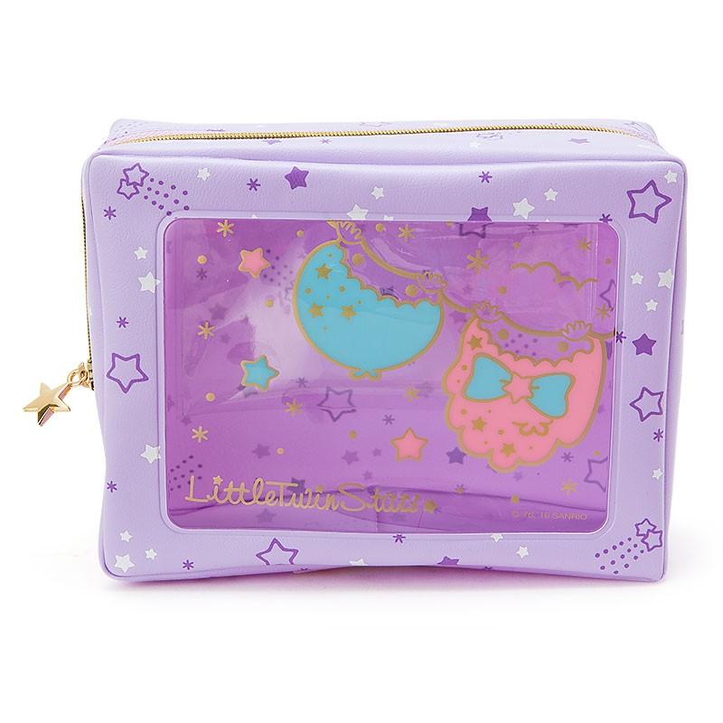 Coco 馬  三麗鷗限定雙子星KIKI LALA 防水盥洗包化妝包筆袋鉛筆盒收納包PVC