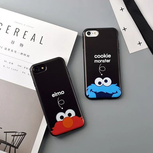 蘋果iphone7plus 防摔殼6splus 手機殼cookie monster elm