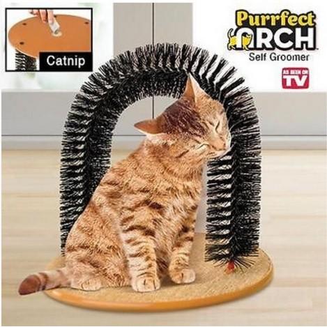 ~貓咪蹭毛器~purrfect arch TV 貓咪抓癢器貓刷蹭毛刷貓抓癢貓咪理毛刷寵物用