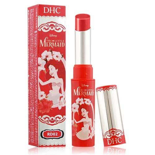 ~ 限定~DHC 迪士尼公主保濕潤色護唇膏唇彩潤唇膏小美人魚1 4g RD02