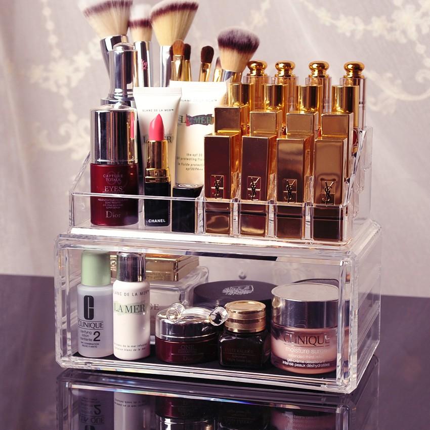 透明壓克力套裝收納盒口紅架美妝收納彩妝整理盒化妝刷收納多 收納盒十款選分售頁面