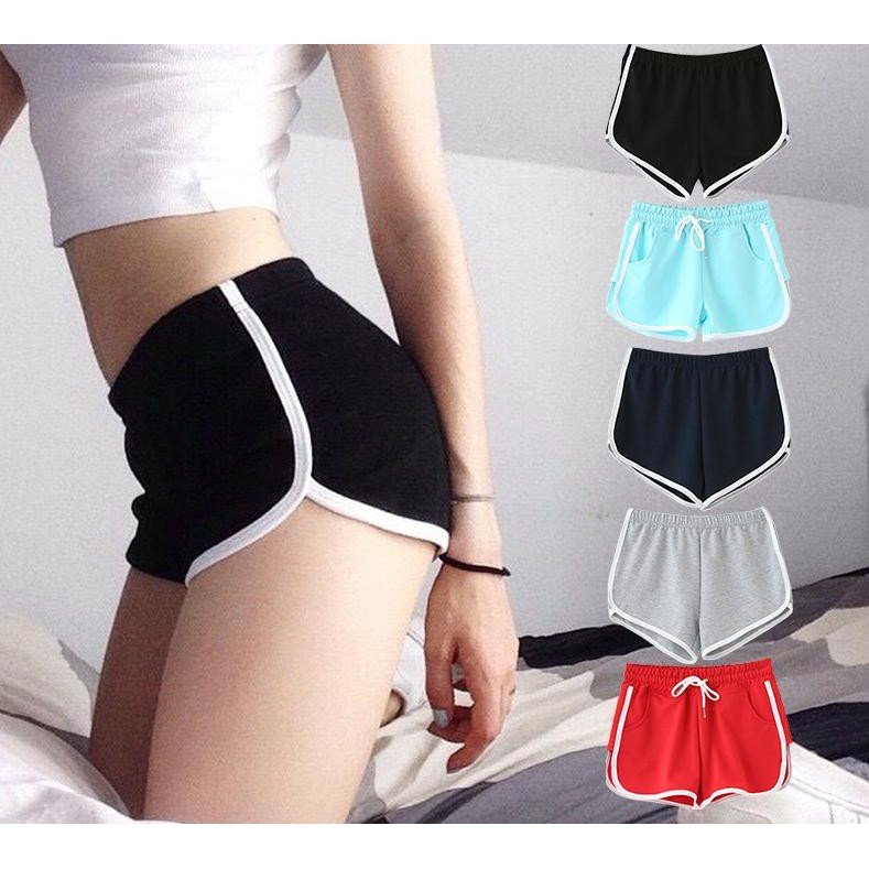 瑜伽褲女褲 短褲女跑步寬鬆褲韓國休閒高腰褲睡褲沙灘褲健身褲