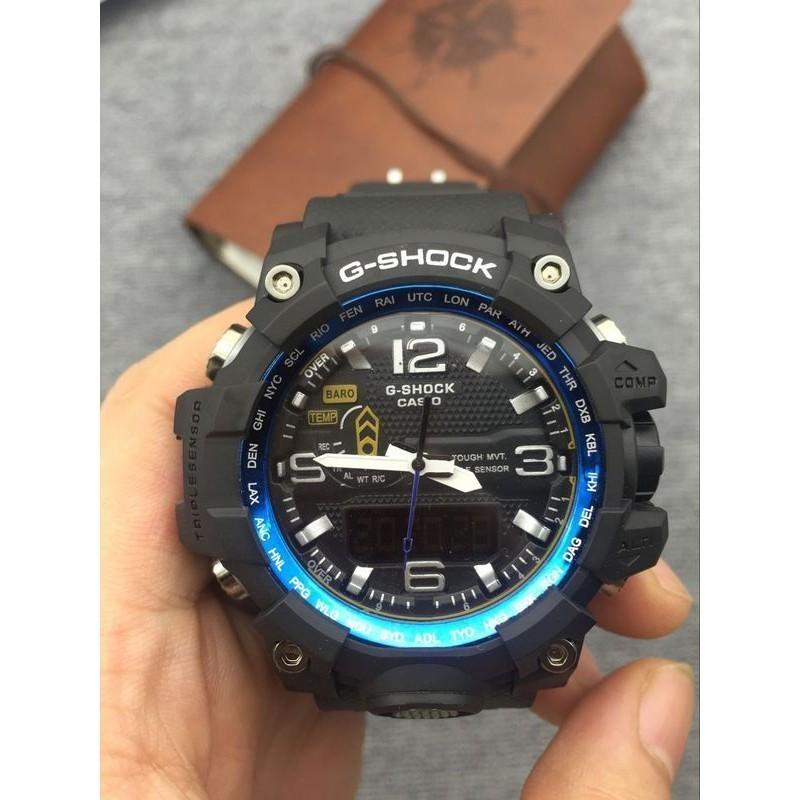 Casio G Shock 六局電波太陽能GWG 1000 1A 黑藍