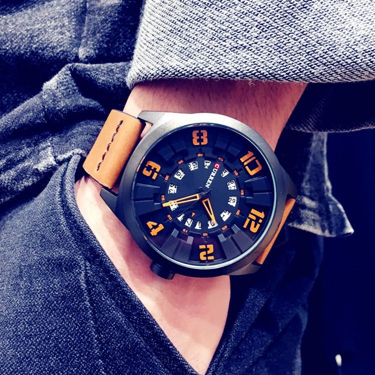 手錶正品軍事風男士手表皮帶防水石英表大表盤 學生男表時裝表
