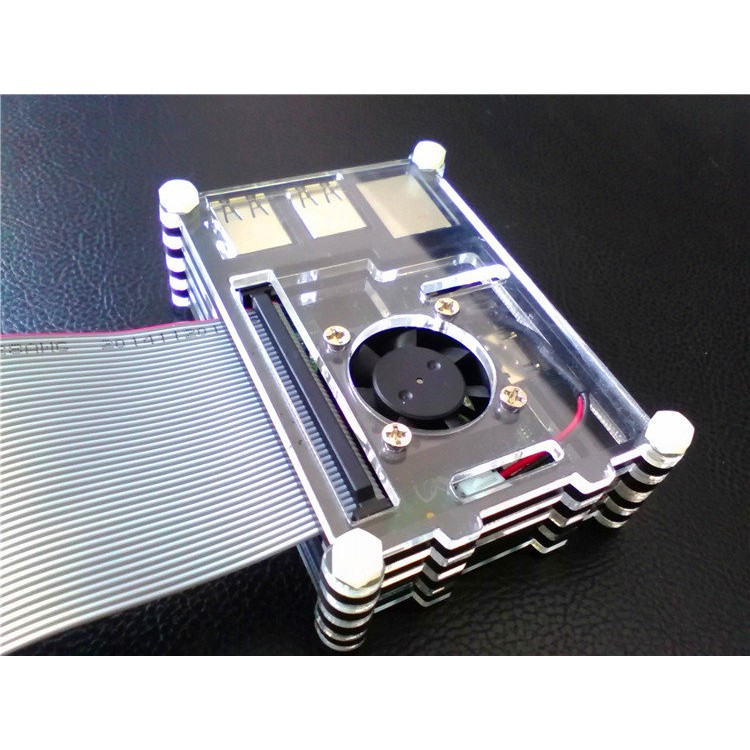 Raspberry Pi RPi 樹莓派3 Model B 九層堆疊壓克力風扇保護殼外殼機