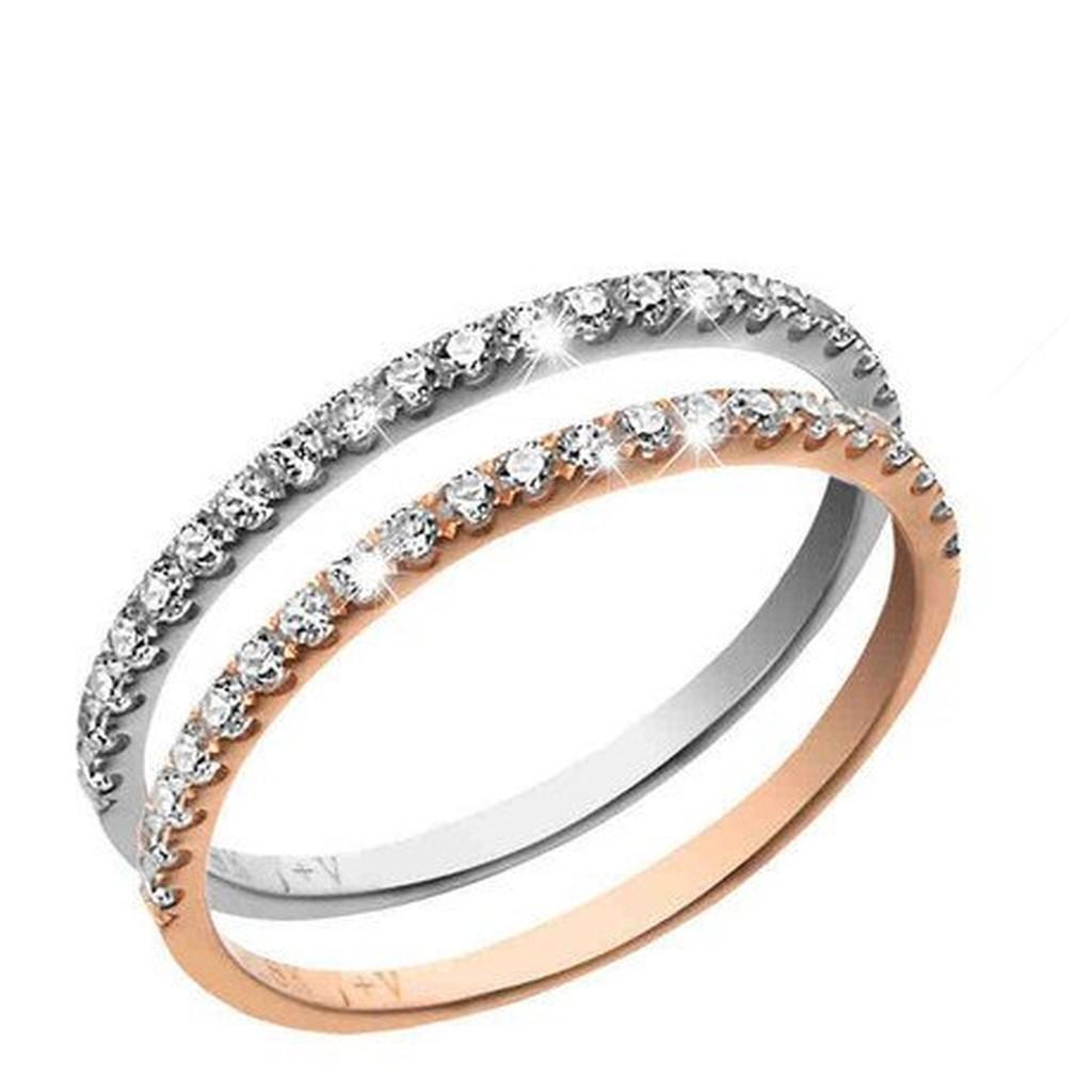 瑾瑋莫桑鑽石 珠寶 館優雅好搭排鑽戒鑽石14K 金585 女戒指