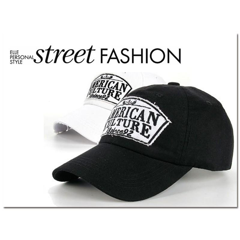 美式風格American Culture 字母刺繡棒球帽
