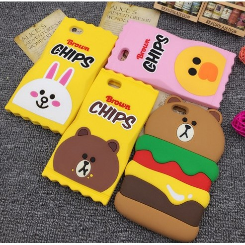 iphone 手機殼Line 系列熊大麗莎妮可漢堡 可愛 橡膠軟殼全包防摔殼洋芋片漢堡