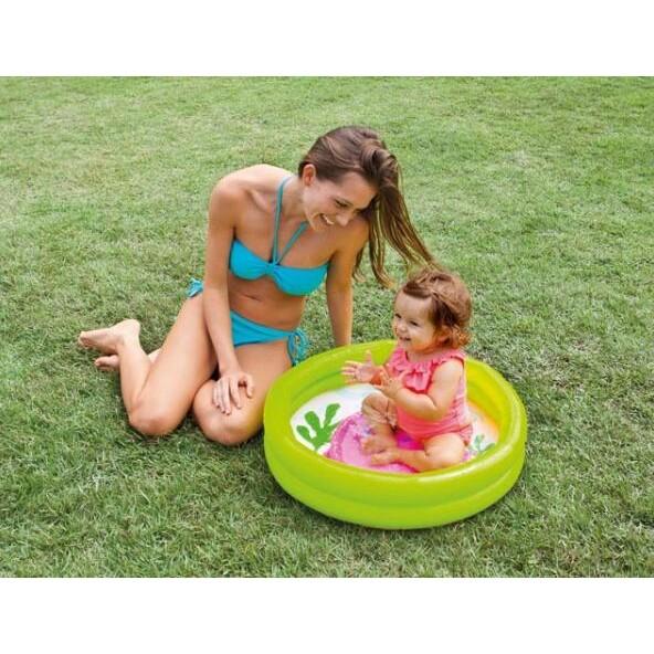 一露遊你買一送一INTEX 59409 雙層嬰兒泳池球池戲水池寶寶充氣游泳池洗澡水盆61