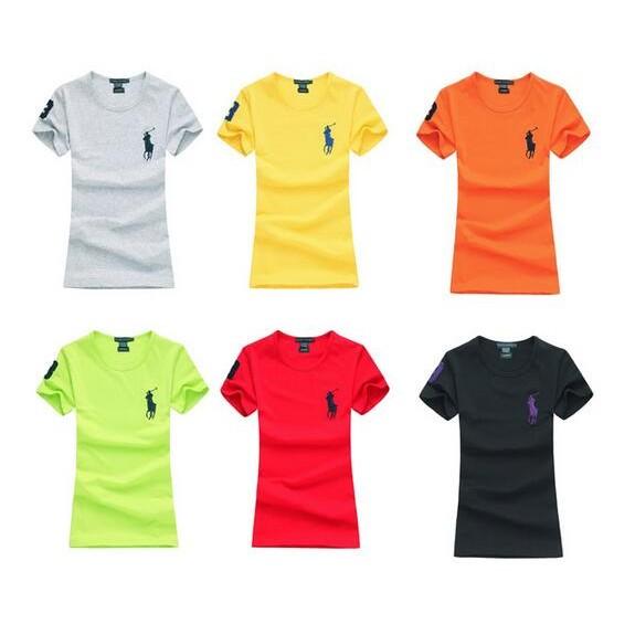 POLO Ralph Lauren 女裝刺繡大馬標圓領短袖T 恤衫情侶裝短T 圓領T 恤素